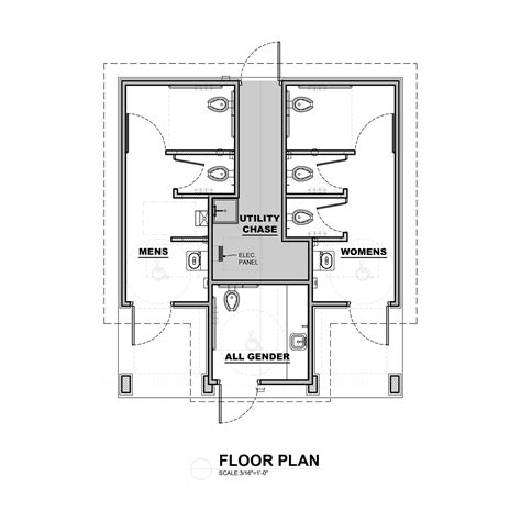 public restroom floor plan designing restrooms for accessible all gender use