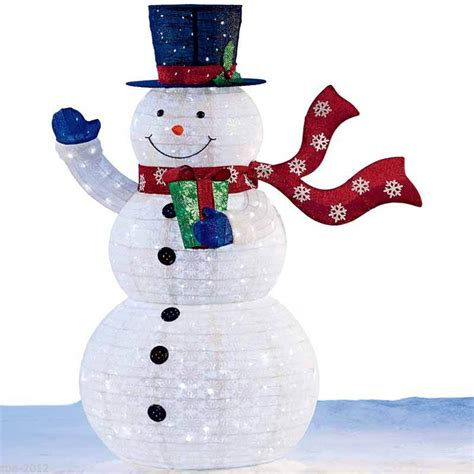 large christmas indoor outdoor pop up snowman 6ft 1 8m