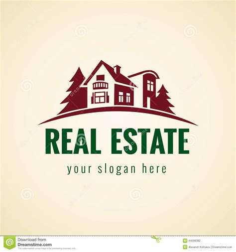 Cabana House Plans real estate logo forest stock vector image 44098382
