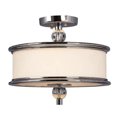 galaxy ceiling light fixtures shop galaxy hilton 13 375 in w chrome semi flush mount