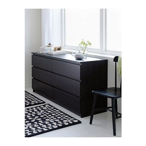Ikea Black Malm Dresser by 179