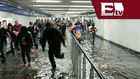 imagenes inundacion indios verdes lluvia provoca inundaci 243 n en la estaci 243 n del metro cuatro