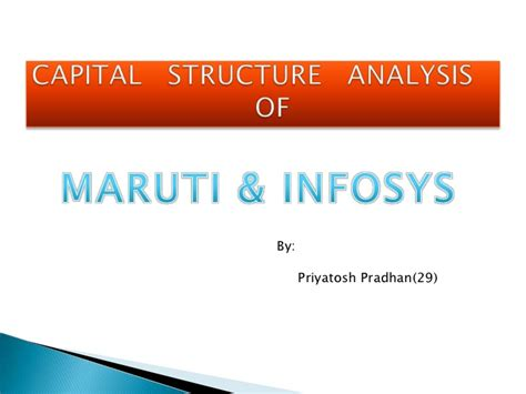 Capital Structure Of Tata Motors Mba by Capital Structure Analysis