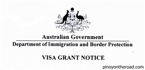 Visa Grant Letter Received australian tourist visa for filipinos pinoyontheroad