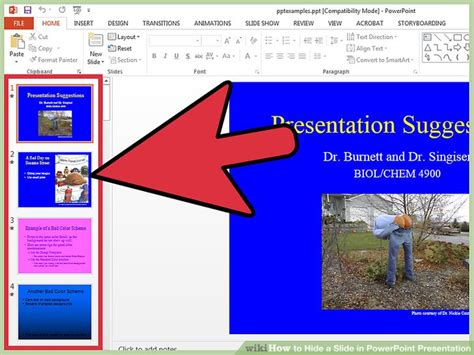 How To Hide A Slide In Powerpoint Presentation 9 Steps Show Powerpoint Presentations