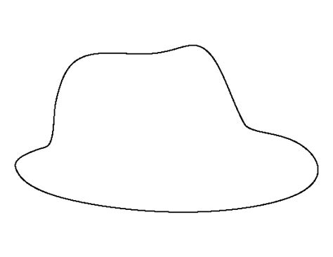 fedora hat coloring page printable fedora template