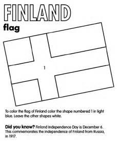finland flag coloring page crayola com