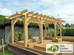 Oak Pergola solid oak pergolas oak timber structures