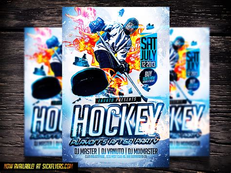 hockey flyer template hockey psd flyer template by industrykidz dribbble