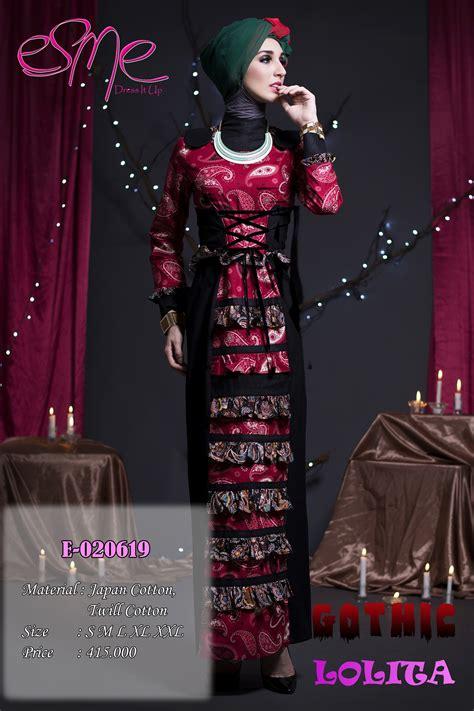 Baju Muslimah Esme E 010311 Pink Summer Dress esme e 020619 baju muslim gamis modern