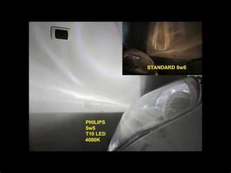 Lu Led Philips Vs Osram philips 5w5 t10 led 4000k vs standard bulb philips