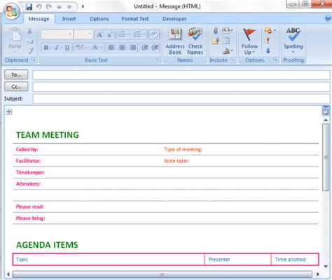 Meeting Agenda Template   Save Word Templates