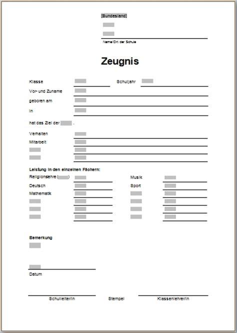 Word Vorlage Zeugnis Word Vorlagen F 252 R Die Schule Office Lernen