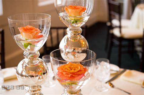 orange and silver wedding decor chesapeake bay club bridal tasting 2013