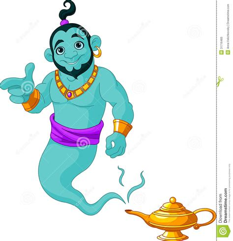 genie granting the wish stock photos image 31716483