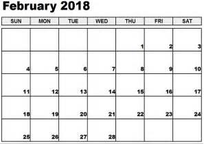 Calendar 2018 February India Printable February 2018 Calendar Free 2017 Calendar