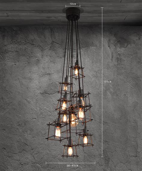 metal frame lights modern hanging square metal frame pendant l light buy