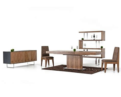 walnut dining table set contemporary walnut dining set w extendable table 44d520w set