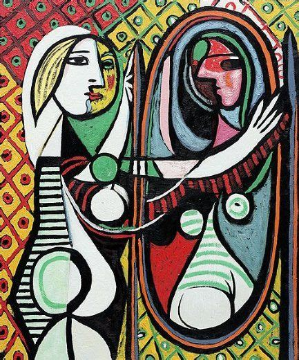 picasso paintings in mirror pablo picasso before a mirror