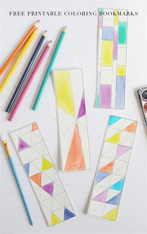 Color Paper Craft - and loisfree printable coloring bookmarks