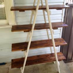 Wood Ladder Bookshelf Plans by Diy Pallet A Frame Ladder Shelf 101 Pallets