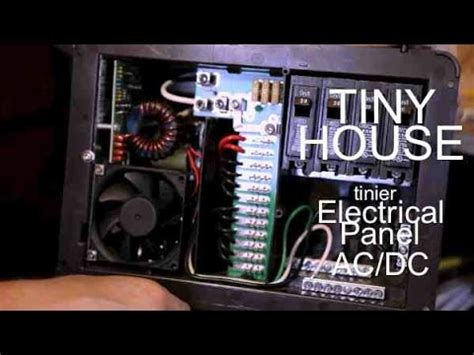 dc house wiring ac dc electrical panel wiring set up for a tiny house or c cabin youtube