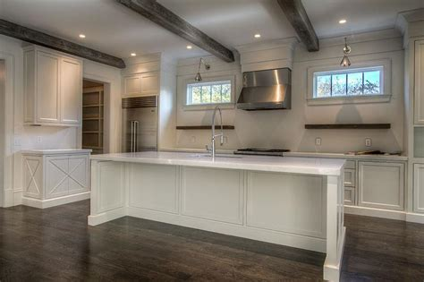 wood beam ceiling gray wood ceiling beams transitional kitchen