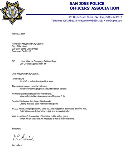 Enforcement Letterhead Union Gets Poetic San Jose Inside