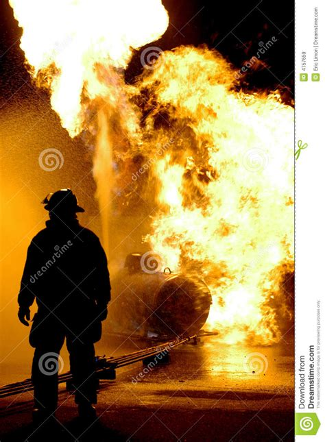 fire fighter  flames stock image image  people