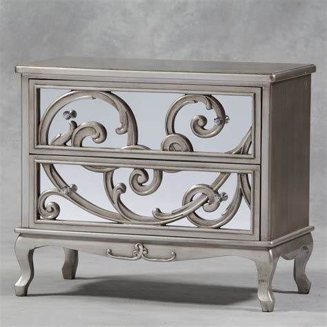 extra large mirrored chest of drawers antique silver mirror fronted rococo large chest of