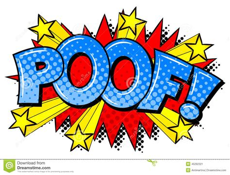 clipped bang poof comic sound effect poof stock vector image 45292321