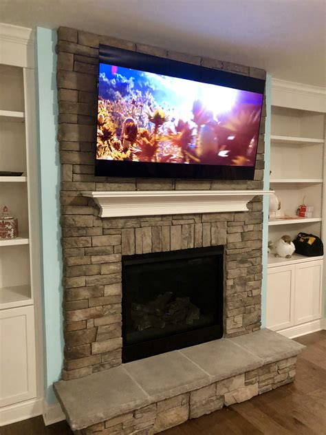Harmonious How To Mount Tv Above Fireplace Gallery