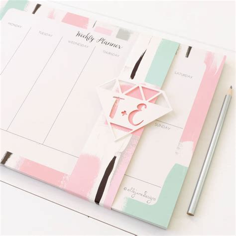 Weekly Desk Planner Pad by Personalised Weekly Planner Desk Pad Abstract By