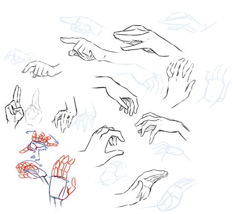 how to draw hands 35 tutorials how tos step by steps hand study by moni158 on deviantart