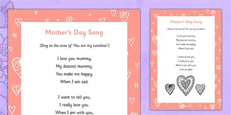 mothers day song s day song s day flowers song rhyme lyrics