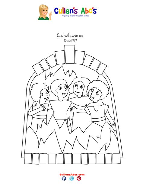 Shadrach Meshach Abednego Printable Coloring Pages 3 Hebrew Boys In The Fiery Furnace Printable