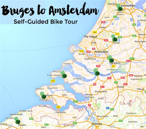 netherlands bicycle map tours of the netherlands map