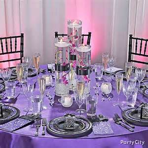 superb purple and silver decorations 1 purple