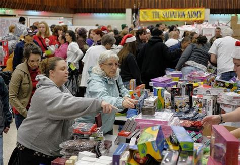 Salvation Army Toy Giveaway - annual salvation army toy giveaway draws a crowd the blade