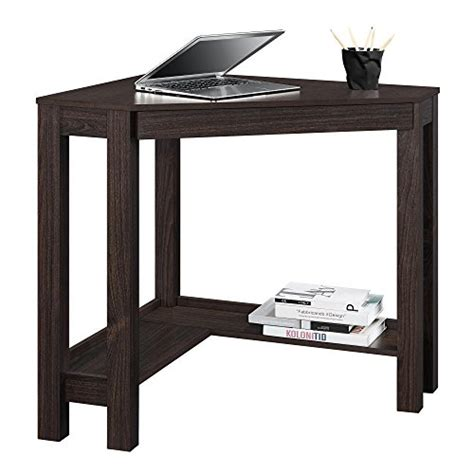 small espresso desk altra furniture parsons corner desk espresso small
