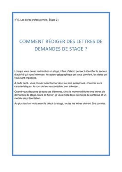 Modèle De Lettre De Demande De Stage De Perfectionnement calam 233 o ecrire des lettres de demande de stage