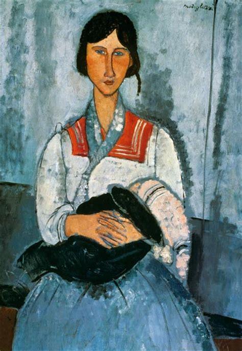 modigliani woman with a gypsy woman with a baby amedeo modigliani as art print