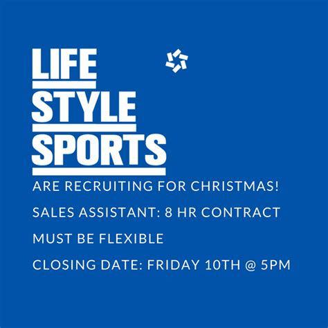 lifestyle sports are now recruiting for christmas