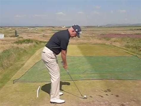 short iron swing roger chapman golf swing short iron down the line view