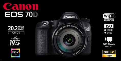 Kamera Canon Eos 70d Kit 1 jual canon eos 70d wifi ef s 18 55 is stm kit 20 0mp 7 0fps 19point af hd resmi