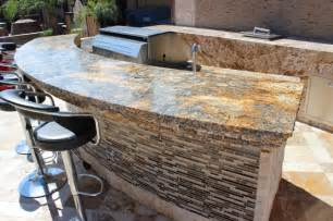 Stone Top Patio Table Granite Outdoor Bar Area Traditional Patio Other