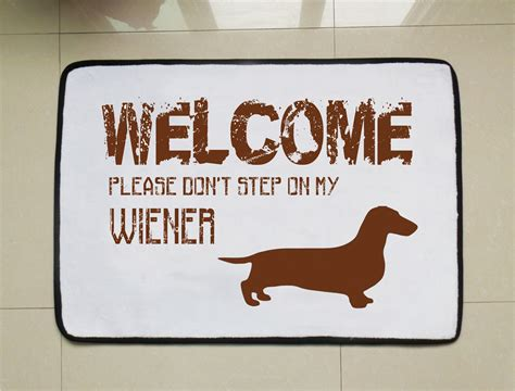funny welcome wiener dog door mat funny welcome mat dog lovers gift custom