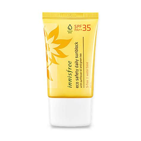 Harga Innisfree Eco Safety Daily Sunblock kem chống nắng innisfree eco safety daily sunblock spf 35