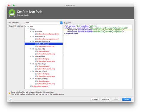 android studio image asset launcher icon transparent