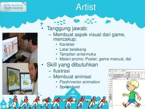 membuat poster manual agate academy open course 02 peran dalam game developer